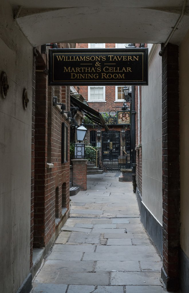 Williamson's Tavern is also located down a narrow alley